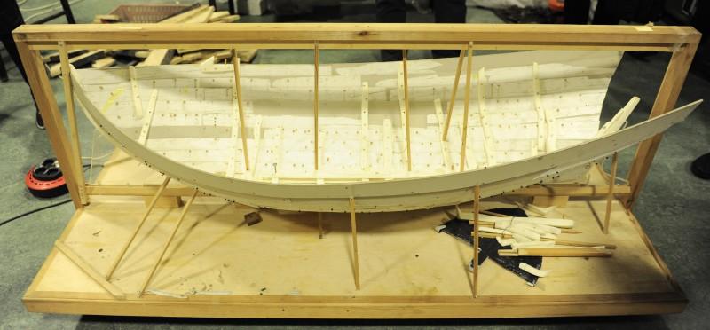 Model na potrzeby rekonstrukcji łodzi realizowanej w Norweskim Muzeum Morskim. Model zbudowano na podstawie danych pozyskanych w trakcie skanowania 3D za pomocą ramienia skanującego 3D. (fot. W. Jóźwiak)