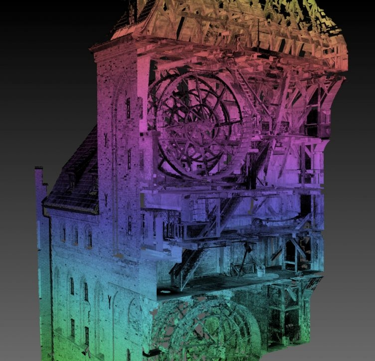 The Crane Point Cloud - cross section
